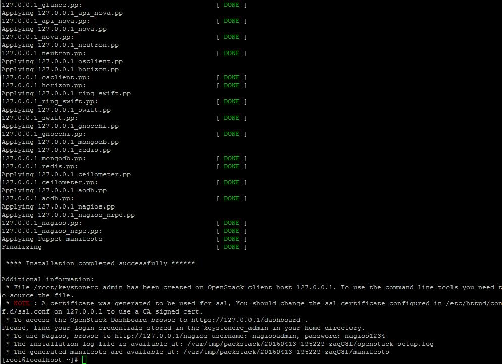 Installation of OpenStack