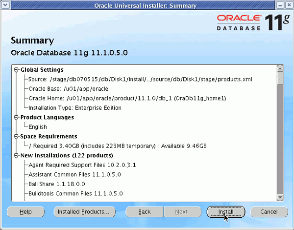 Oracle DB Installation