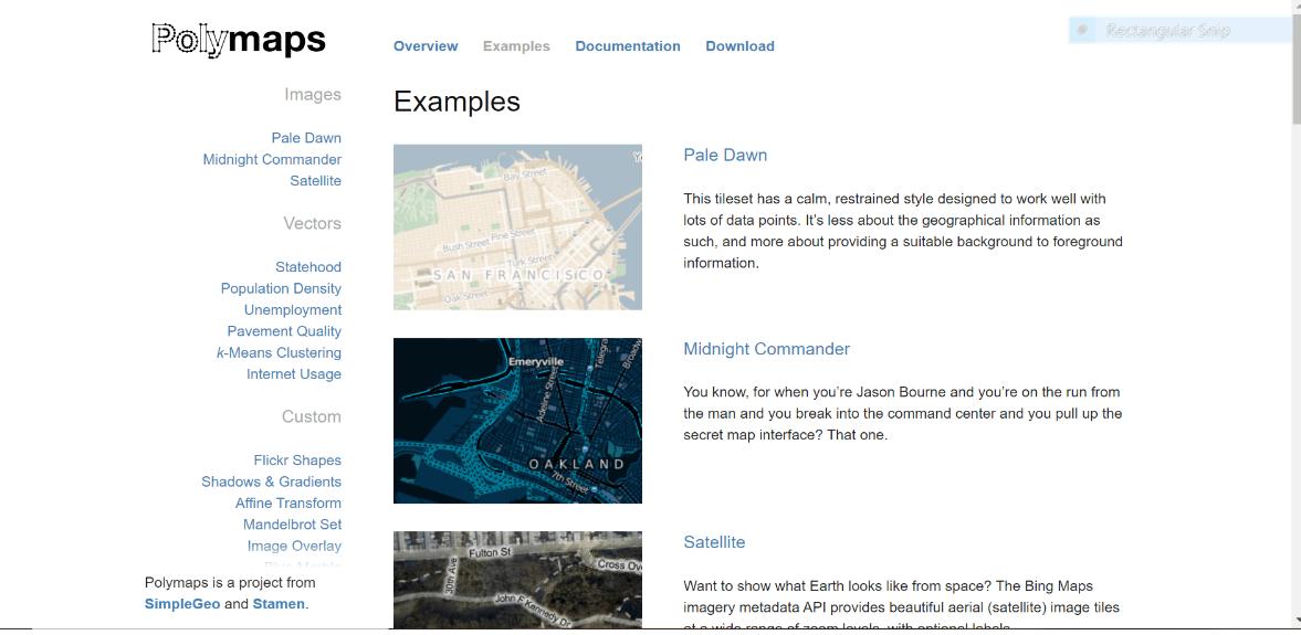 polymaps free data visualization tool