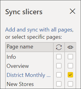 Sync Slicers in Power BI