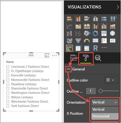 Convert Vertical Slicer to a Horizontal Slicer