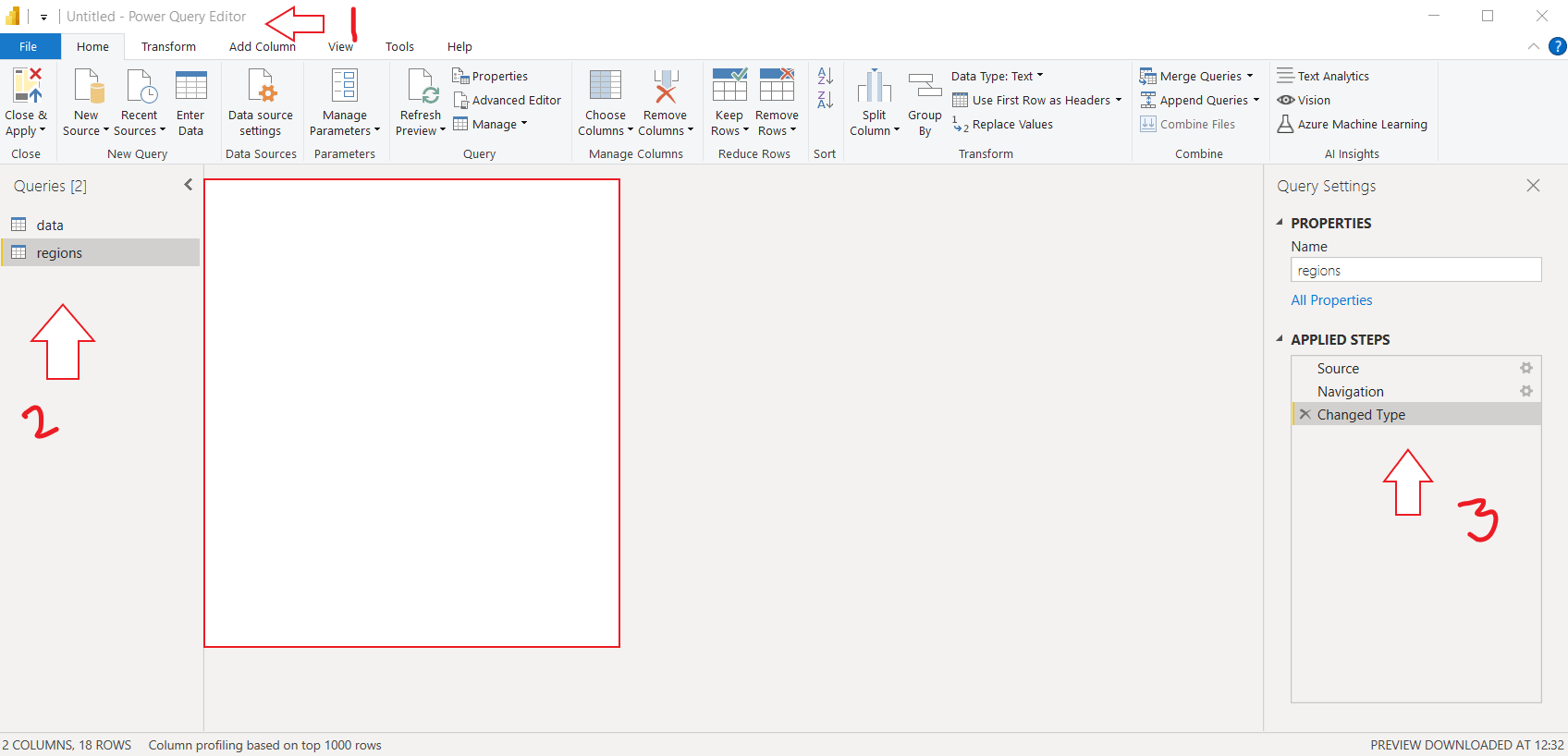 data formatting with power query