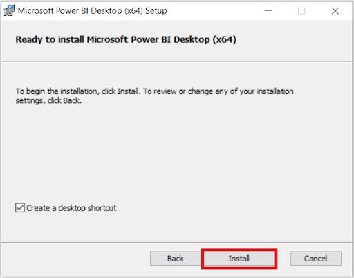 Power BI Desktop Download Installation
