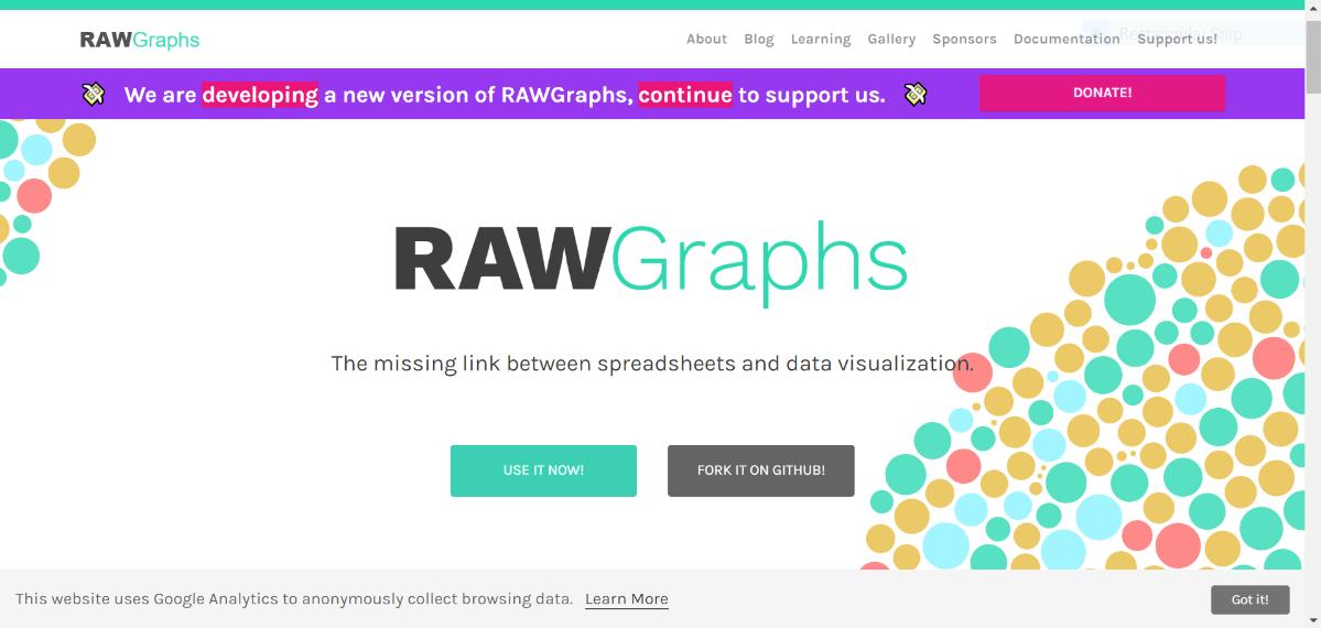 raw graphs free data visualization tool