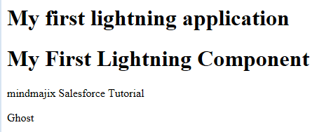 Output of the Lightning Component