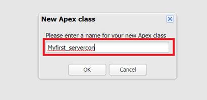 New Apex Class