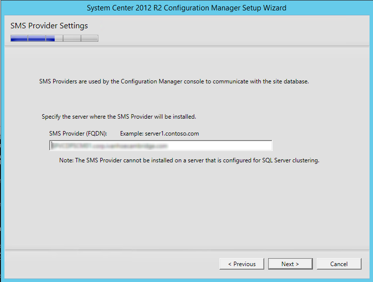 installing SCCM 2012