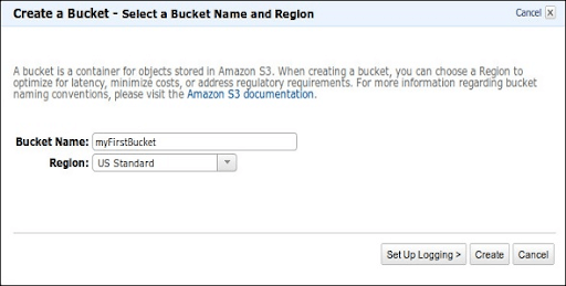 Select a Bucket Name and Region